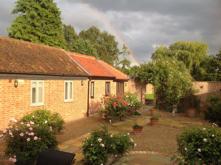 View from bedrooms in to the Courtyard