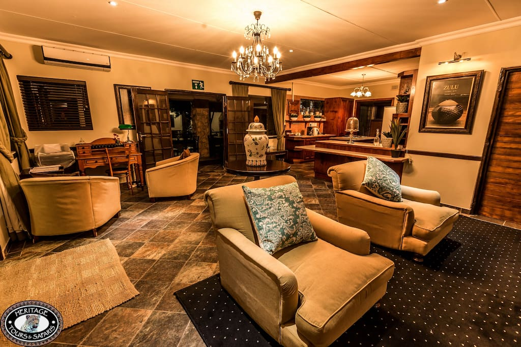 Indoor lounge a great place to spend time with your family or meet fellow travellers