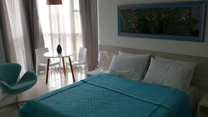 Great studio in a resort with an exclusive beach