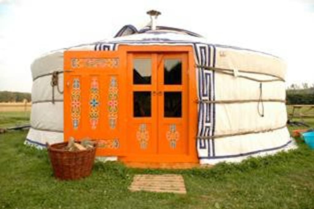 Camp in style in a traditional yurt.