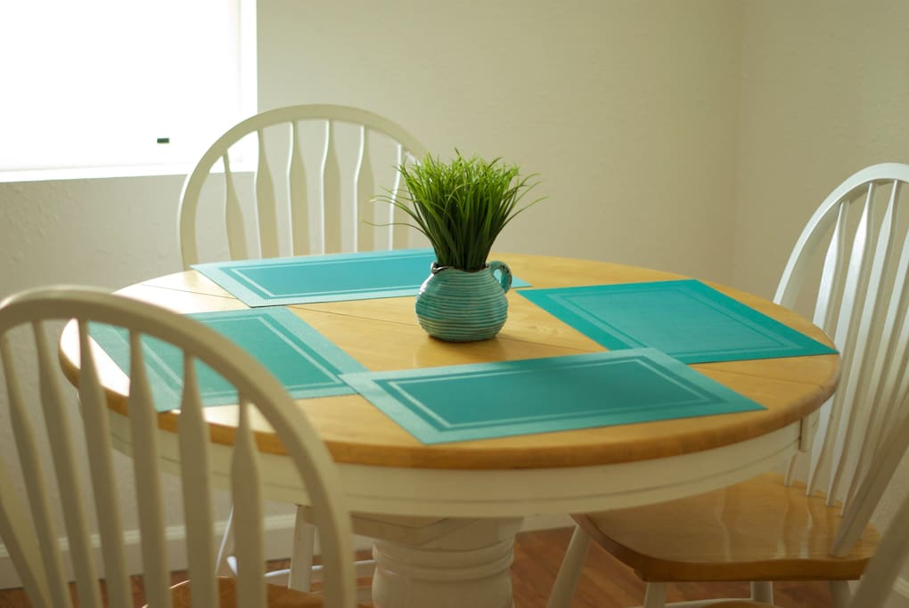 Separate dining space