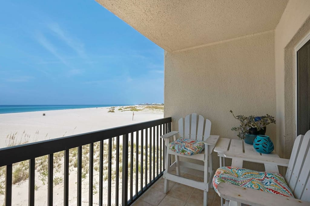Balcony overlooking the Gulf of Mexico and the Sugar Sand Beaches at Pinnacle Port!