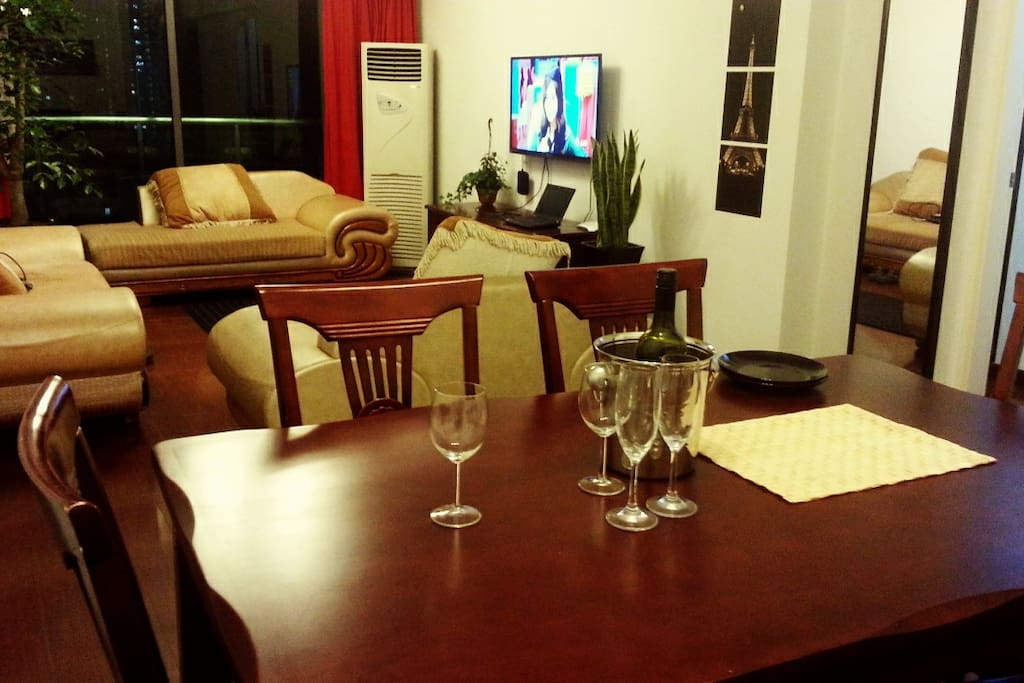 living room with led tv and etc. on-demand broadcasting movie service and int'l channels are available!