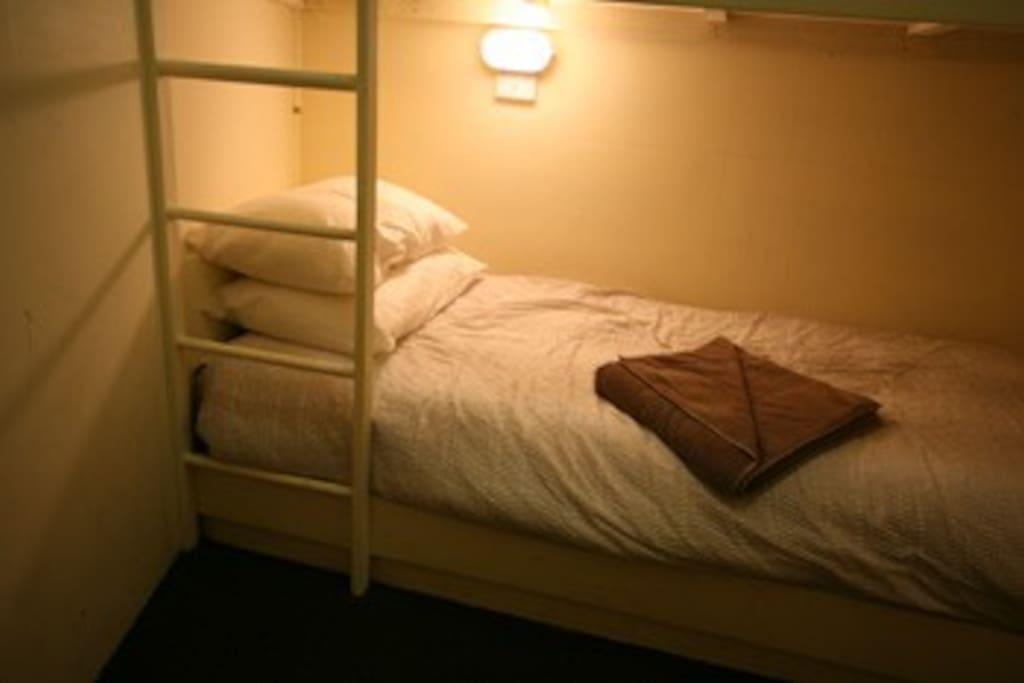 Comfy and snug bunks