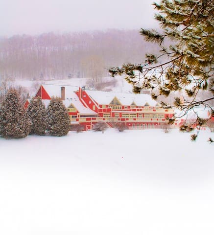 Quechee Clubhouse in Winter