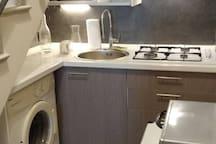 Cucina e lavatrice