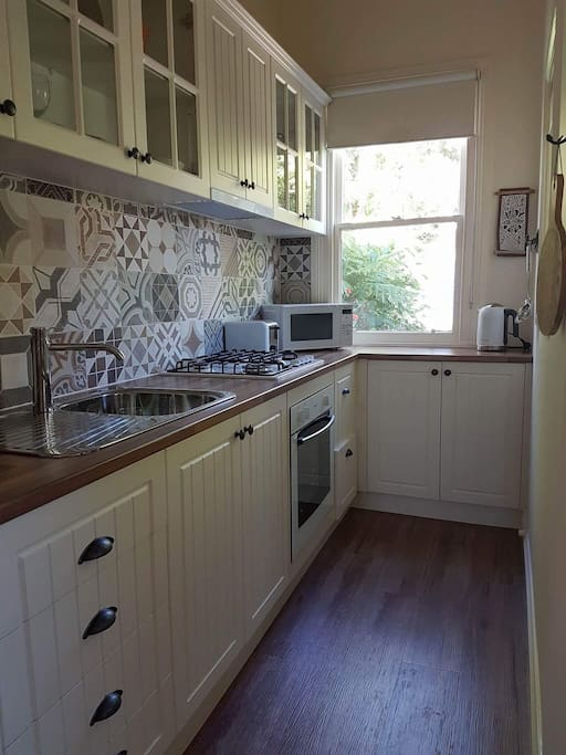 Fully equipped kitchen for you to use... or plenty of local cafes and restaurants just a short walk away