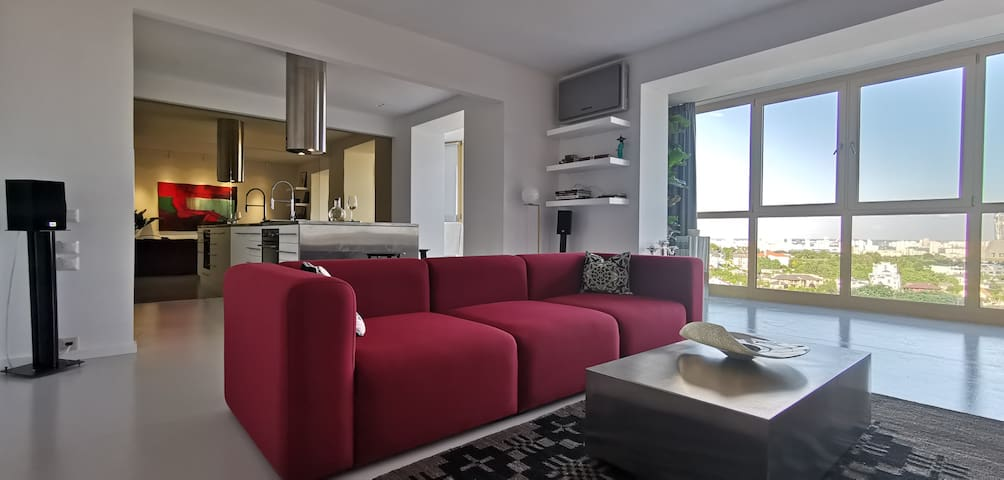 The best view apartment with a contemporary style