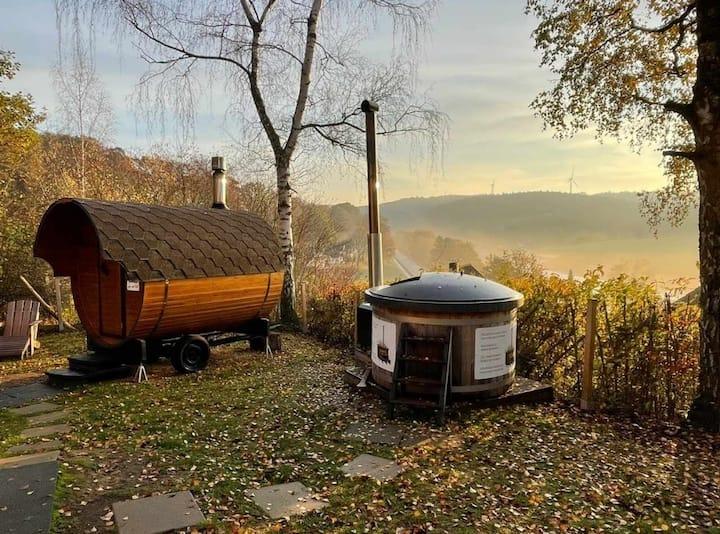 """Ferienhaus """"Auszeit am See"""" mit Sauna & Hottub"""