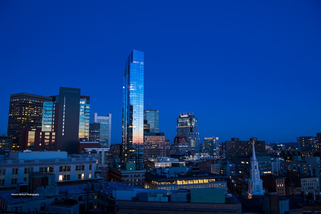 Blue hour of Boston by Kevin Kerfoot Photography