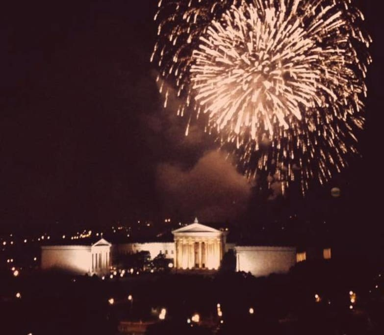 Picture taken of Art Museum from Roof on July 4th