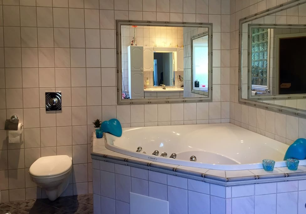 Shared bathroom with host