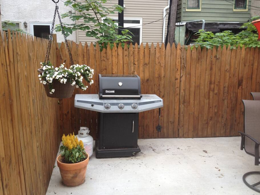 Back patio grill