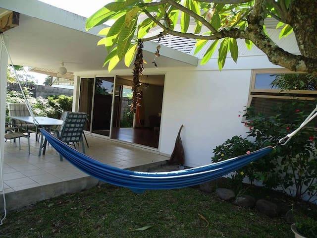 Chambre 100m du lagon, Pointe Venus, Tahiti - Mahina - House