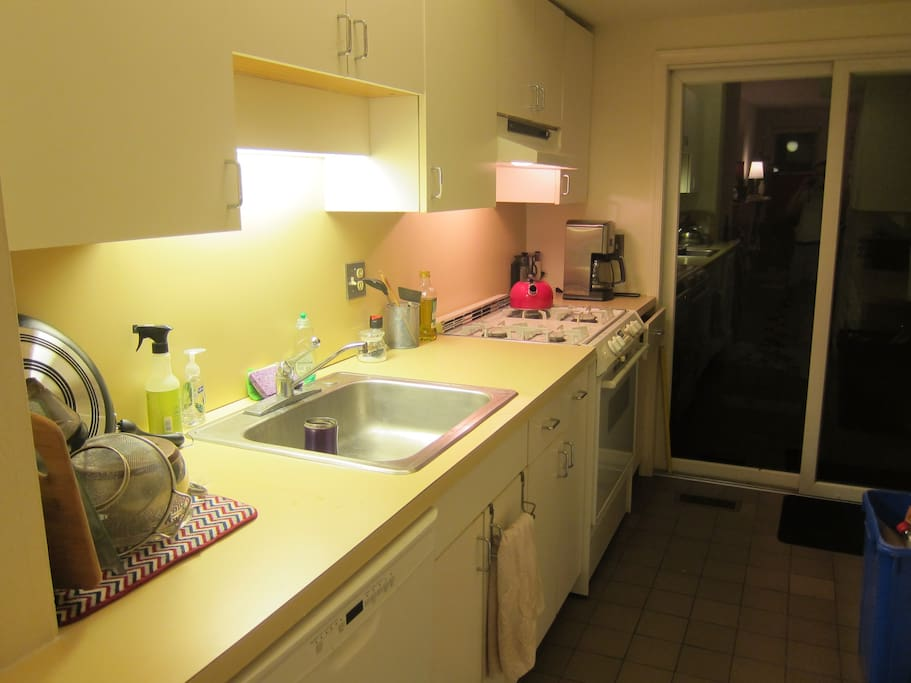 spatious kitchen area, with small patio!
