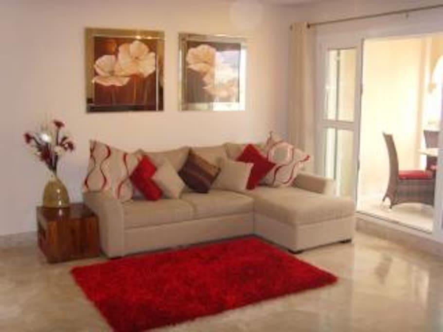 Bright spacious living area