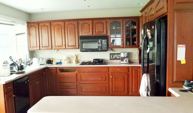 Kitchen with Microwave, Fridge and Freezer, Dishwasher, Oven