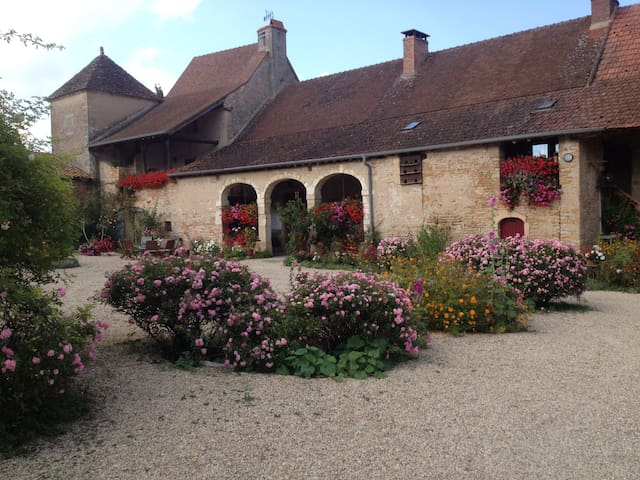 Chambre d'hôtes à la ferme - Rose - BISSY-SOUS-UXELLES - Bed & Breakfast