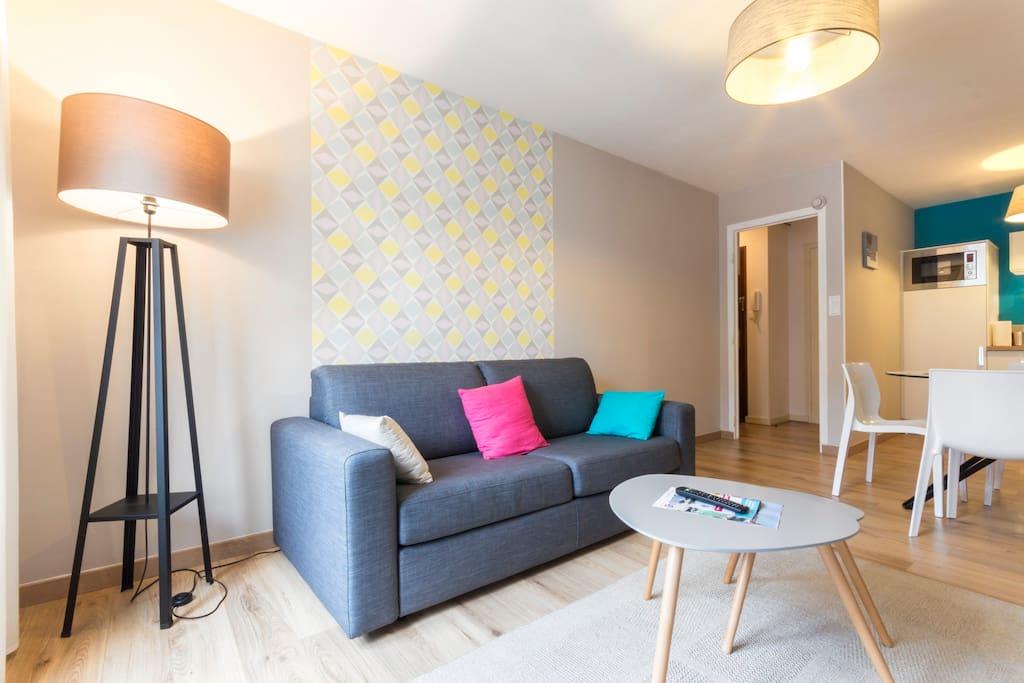 charmant t2 port de vannes linge fourni appartements. Black Bedroom Furniture Sets. Home Design Ideas