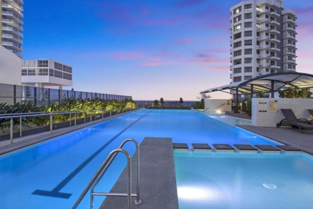 Level 4 with a huge pool and 10 person heated Spa