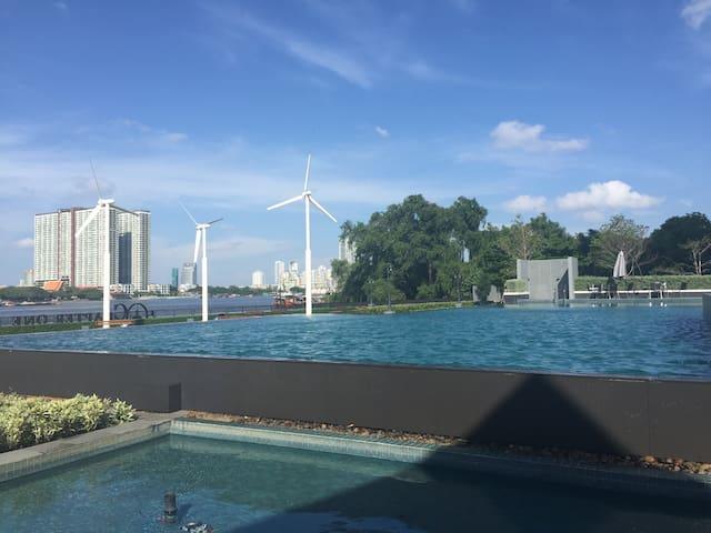 Deluxe River View Resort in City - Bangkok - Apartament