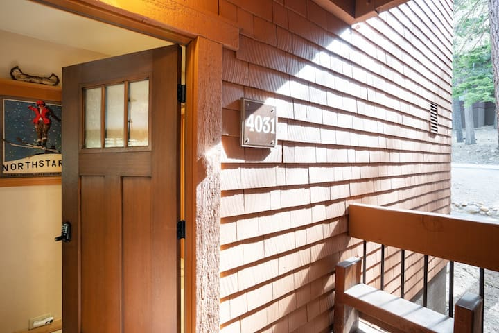 Charming condo with wooded views, located a short walk from the Village of Northstar