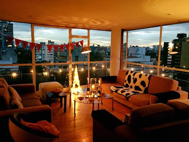 Room with great view in big flat - Ciudad de México - Appartement