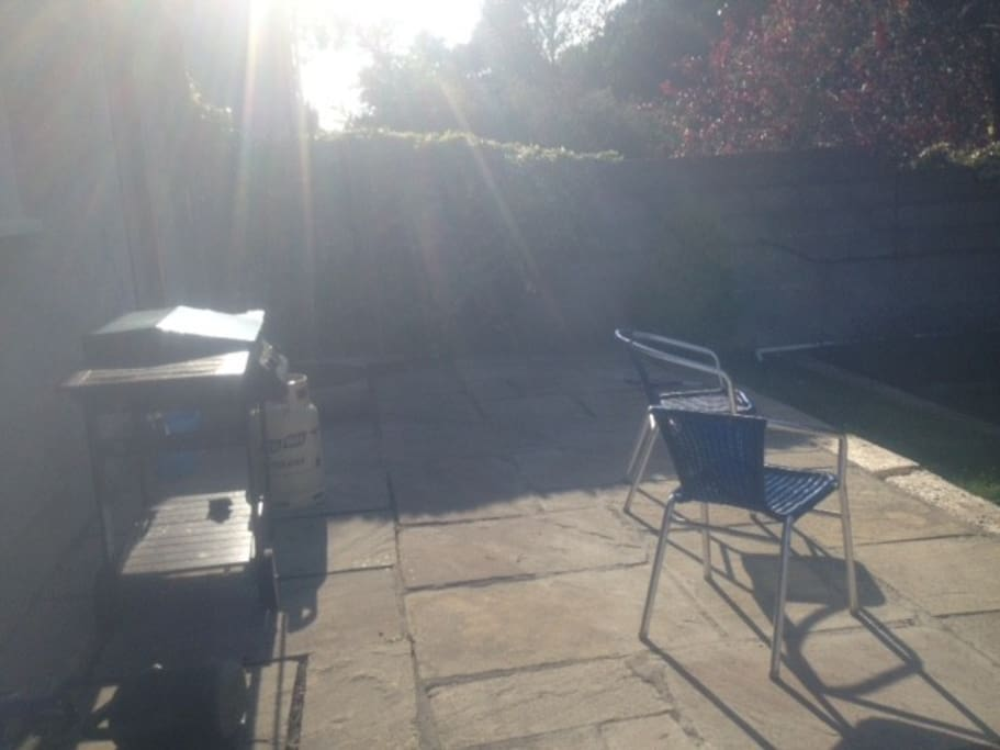Spacious backgarden with BBQ to enjoy your evenings in Dalkey