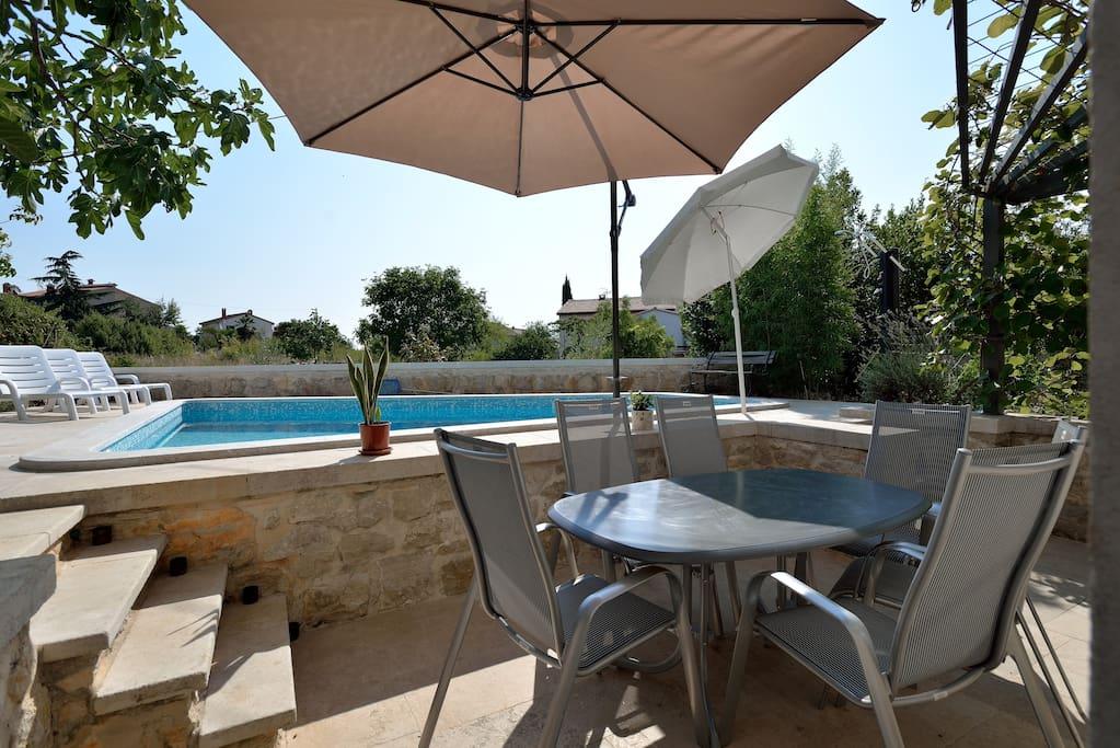 The pool & terrace