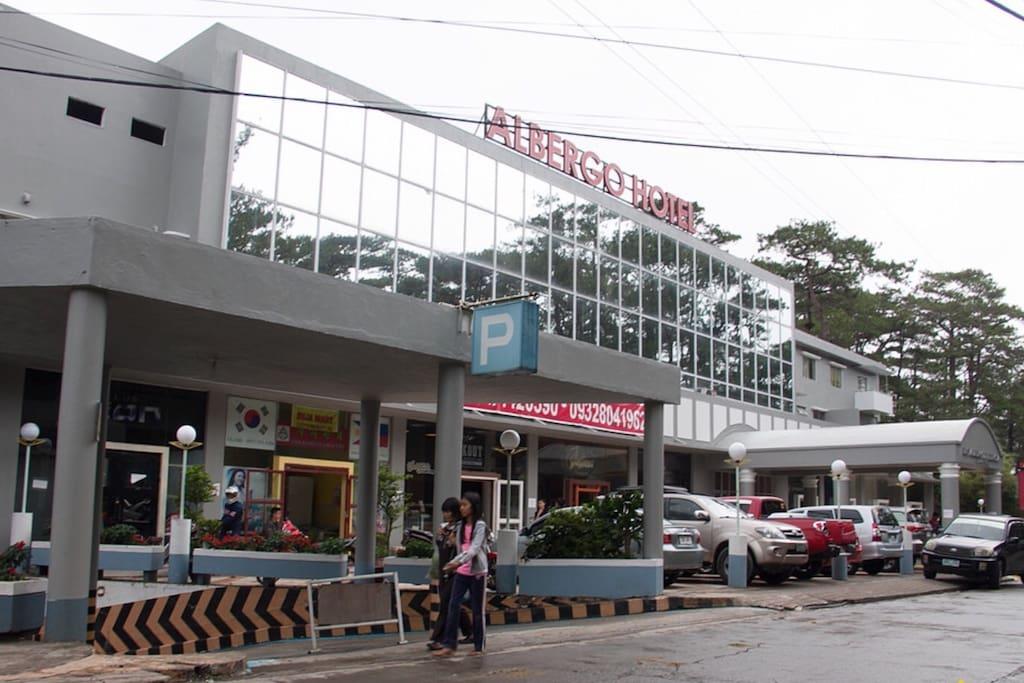 Facade of Albergo Residences along main road (Baguio-Pacdal-Antamok Road)