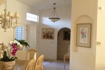 entry and dining area