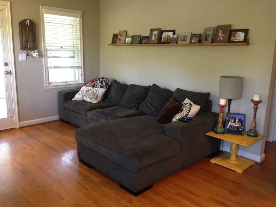 Big, comfy sofa