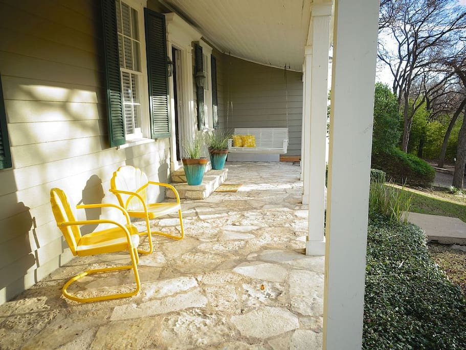 Main house porch! It's perfect for quiet evenings!