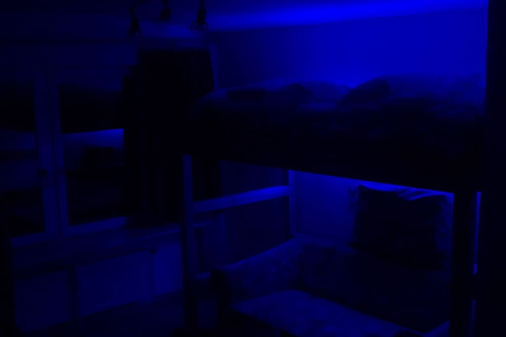 indirekte Beleuchtung aus Türansicht