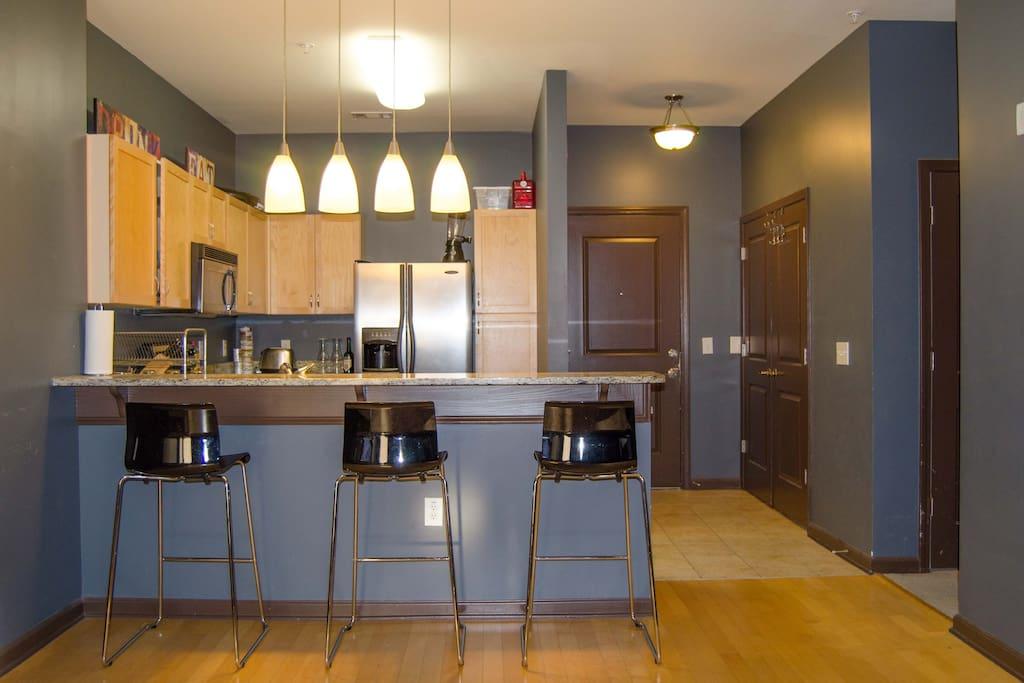 Kitchen + Entryway