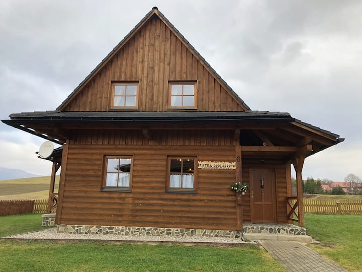 Romatic style wooden cottage with modern comfort
