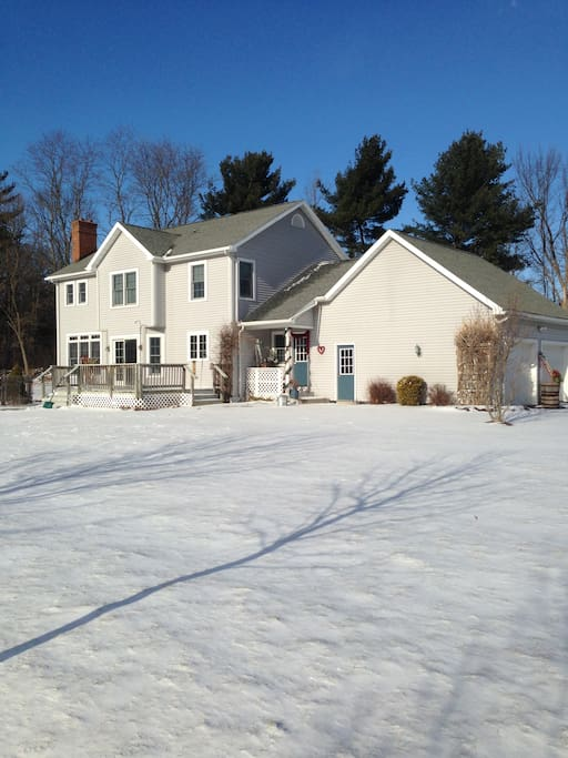 back of house in the winter