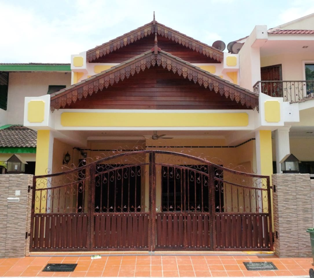 Double storey, Malay traditional design house. Fully refurbish and renovated.