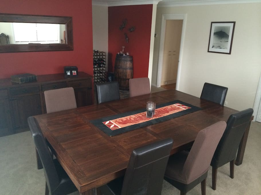 Dining room can accommodate 10-12 for dinner