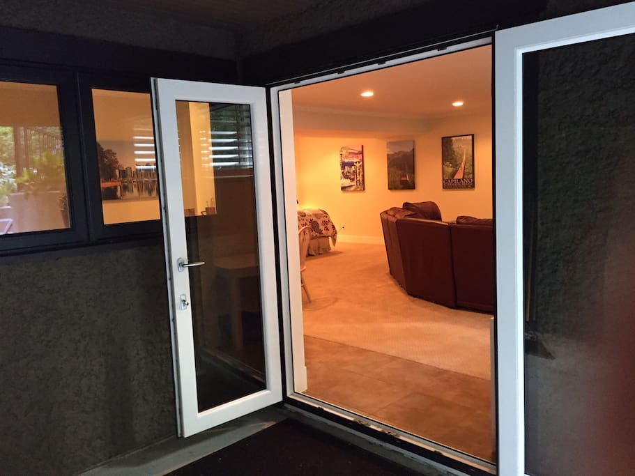 Private entrance from your patio
