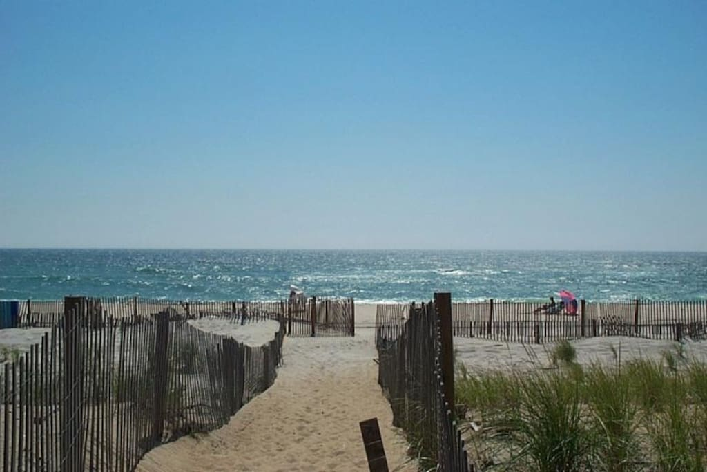 Gorgeous beach is only 1 block away on a charming narrow boardwalk