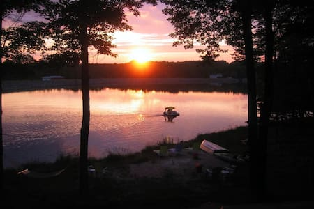 Colorful Lakefront with Fire Pit! - pocono lake