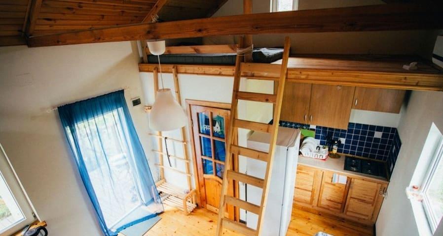Уютный дом-студия на лето у моря - Plyakho - Huis