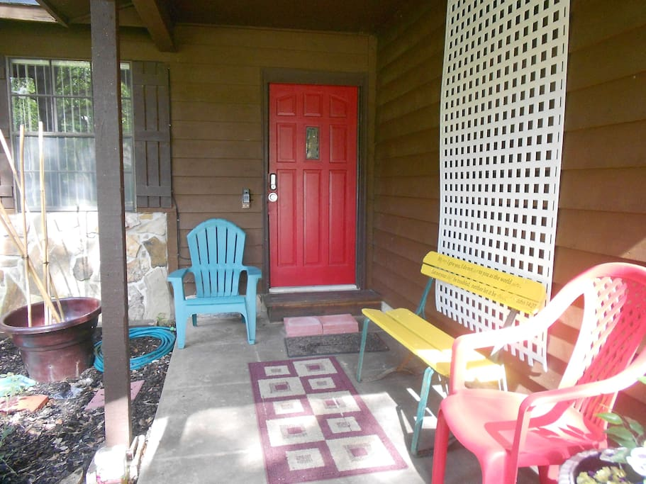 Cozy front porch