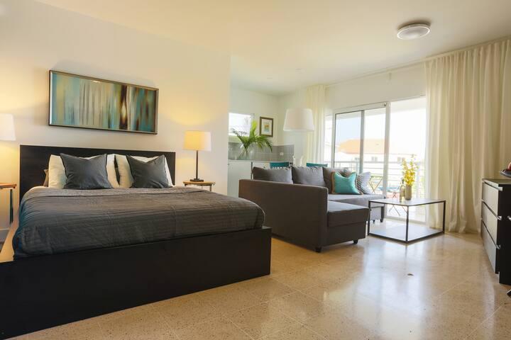 Cataleya Aruba-Downtown Studio Apartment w/Balcony