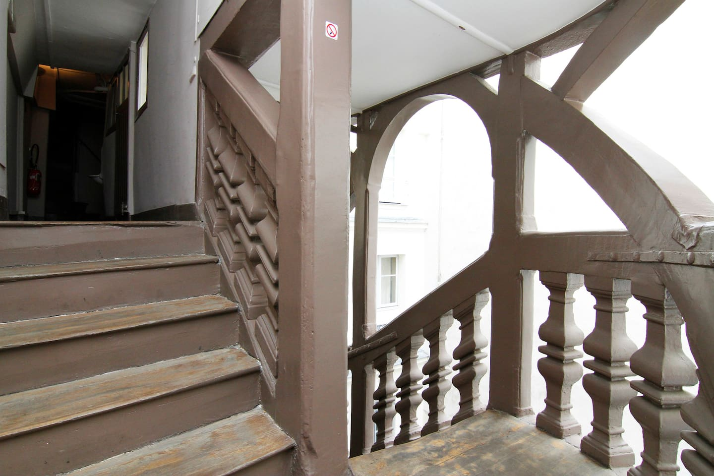The stairs are 400 years old!