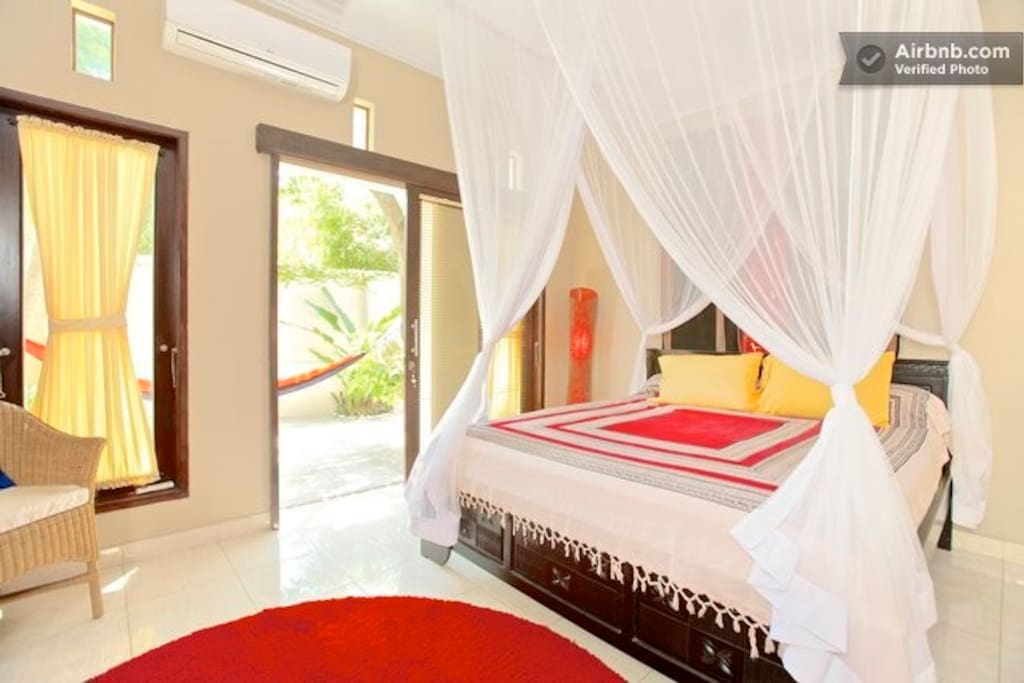 Master bedroom is air condition and has private bath.