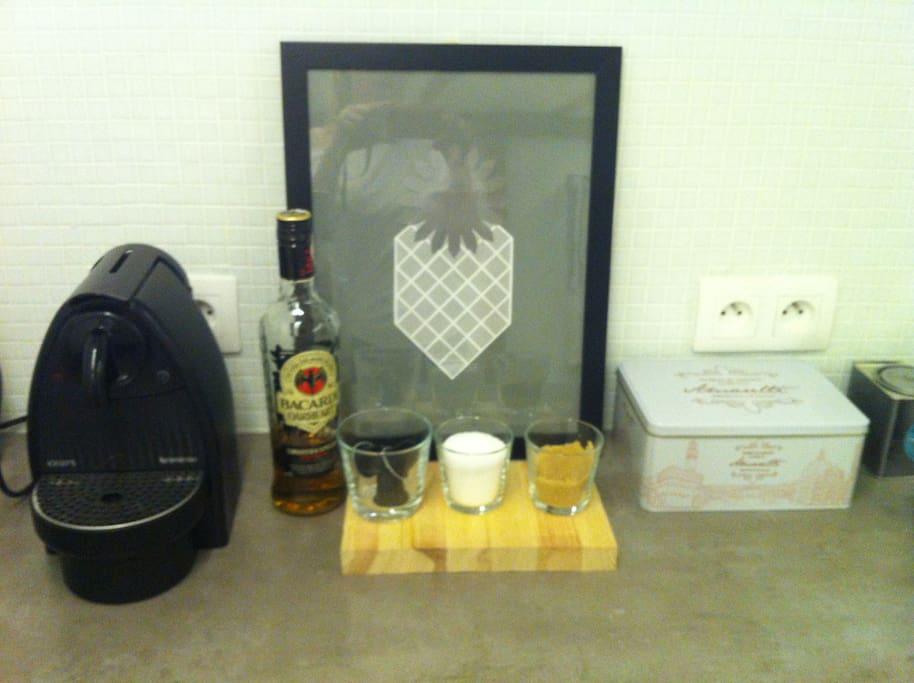 Most important accessory - Nespresso coffemaker :)