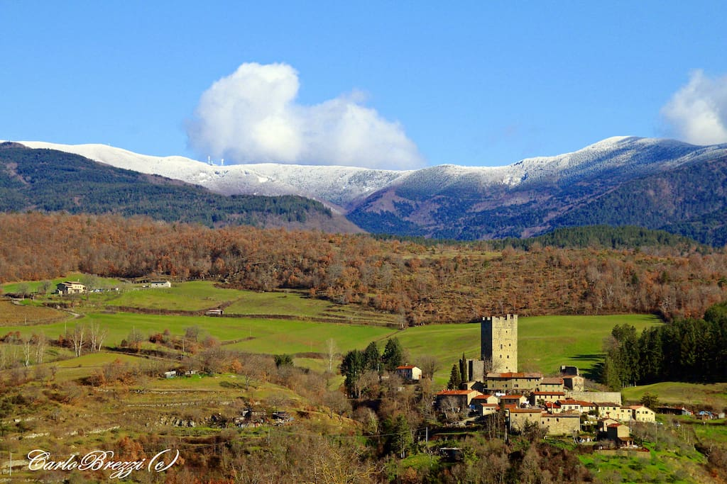 Porciano, castle and hamlet - Porciano, castello e borgo
