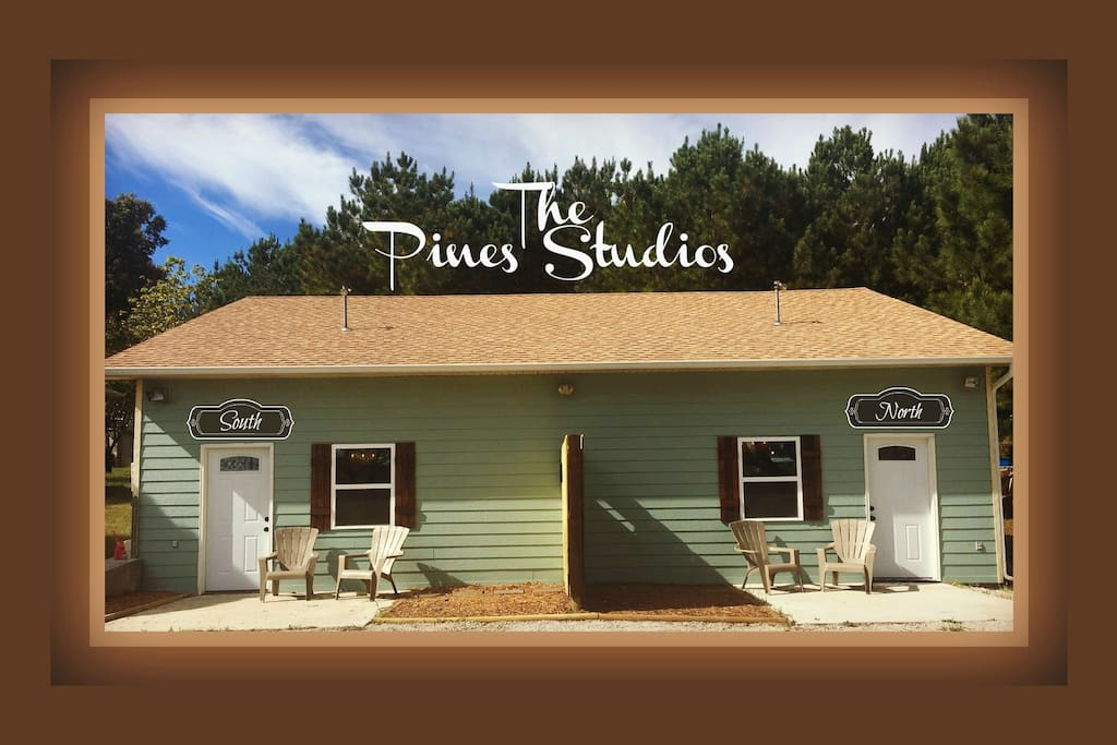 The Pines Studio South and North, They are Rented Seperately or Can Be Rented Together.